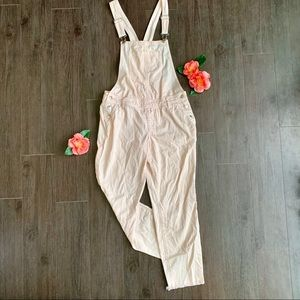 Forever 21 Faded Pink Denim Overalls